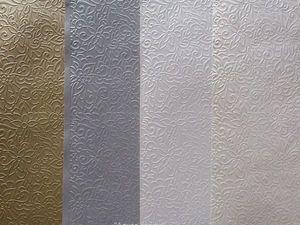 """Новая коллекция бумаги с эффектом """"металлик"""". Ярмарка Мастеров - ручная работа, handmade."""