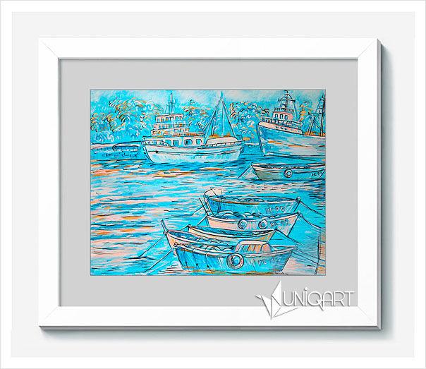 синий цвет, нежный, морской стиль, морская тема, вода, путешествия, продажа картин