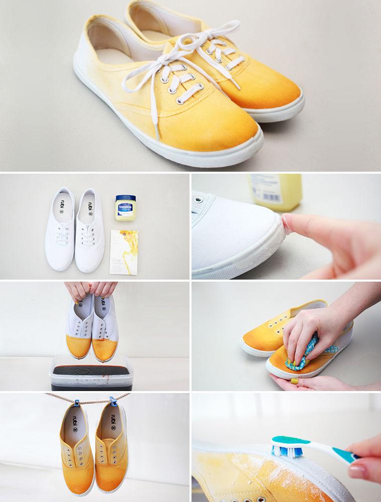 Как в домашних условиях перекрасит обувь