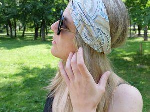 Шьем повязку на голову. Ярмарка Мастеров - ручная работа, handmade.