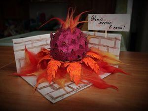 Создаем поделку для детского сада «Огненный цветок». Ярмарка Мастеров - ручная работа, handmade.