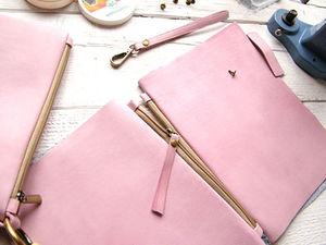 Новые кожаные клатчи скоро.. Ярмарка Мастеров - ручная работа, handmade.