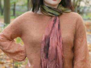 Джемпер-блуза из кид-мохера и кашемира с шелком!. Ярмарка Мастеров - ручная работа, handmade.