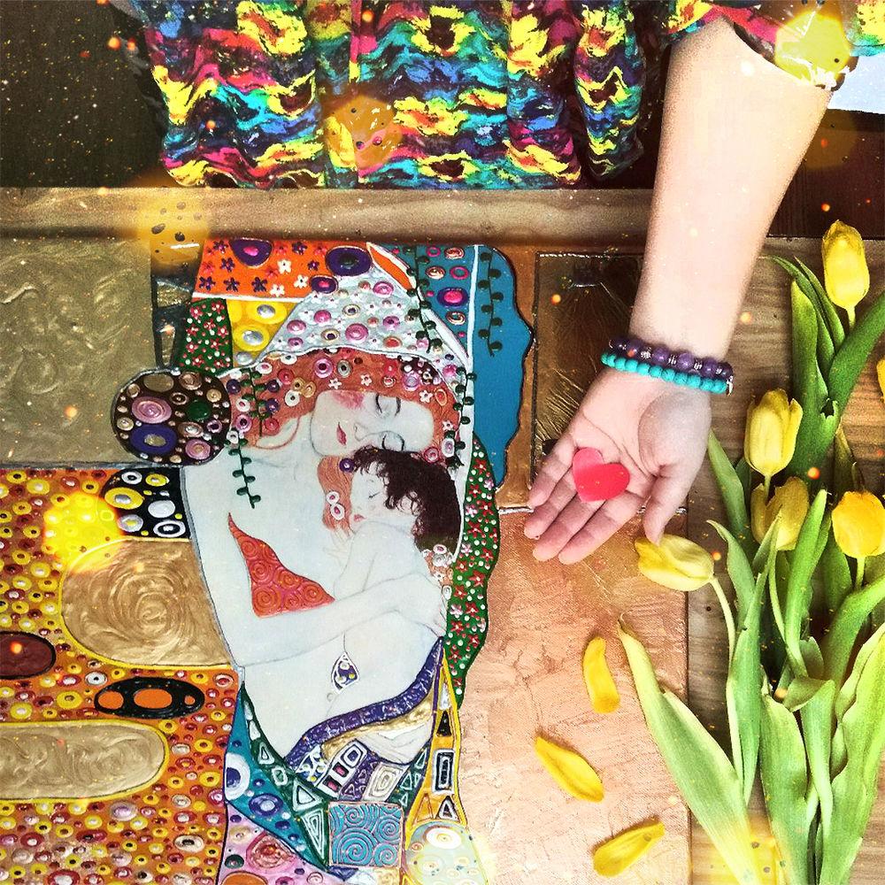 23 февраля, день защитника отечества, поздравление, поздравление с 23 февраля, весна, тюльпаны, flat lay, мать и дитя, мать и дитя климт, густав климт, блог художника, блог художницы, нежность тепло забота, любовь картина, мама и ребенок картина, символизм картина купить, мама и малыш картина, подарок маме, подарок на 8 марта, картины густава климта