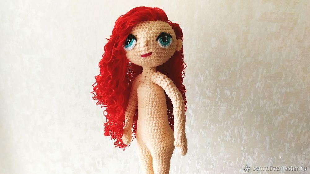 кукла крючком, мк кукла