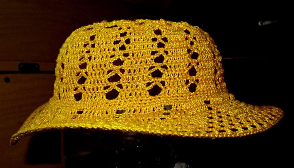 вязаные шляпки