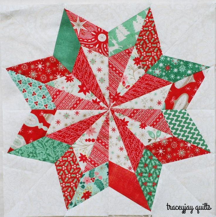 "Here's a gorgeous quilt pattern for the holidays.  It's the ""So Pretty Star"".  It won't be free for long.  Download it today!"