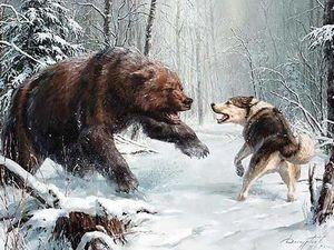Свирепый медведь шатун. Смертельная схватка молодого охотника и медведя шатуна. Бесстрашный преданый Мухтар.. Ярмарка Мастеров - ручная работа, handmade.