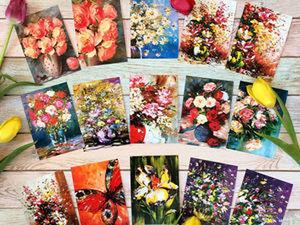 НОВЫЙ Розыгрыш Авторских почтовых открыток! до26.03.18. Ярмарка Мастеров - ручная работа, handmade.