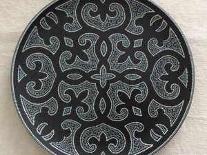 Точечная роспись на керамической поверхности. Декоративная тарелка.   Ярмарка Мастеров - ручная работа, handmade