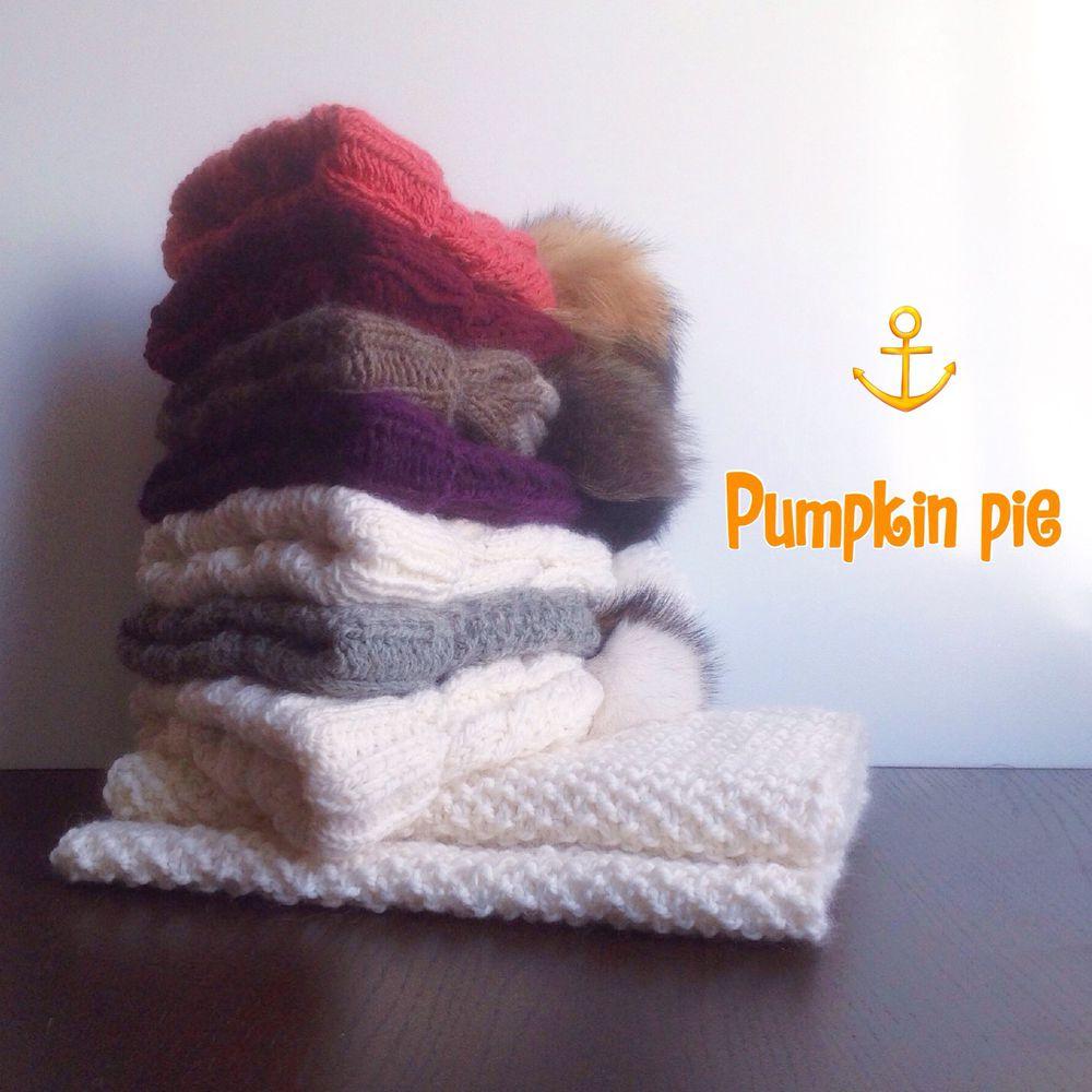 шапка, pumpkin pie, вязаная подушка, новые работы, шапок много не бывает