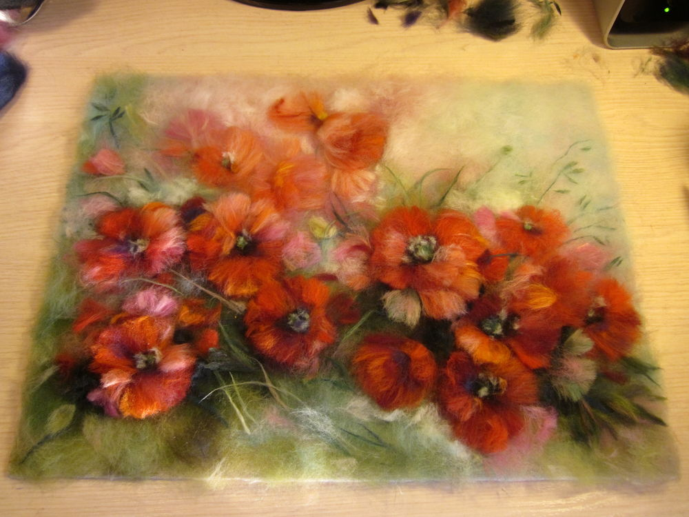 яркие цветы, яркая картина