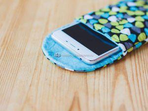 Шьем простой чехол для телефона. Ярмарка Мастеров - ручная работа, handmade.