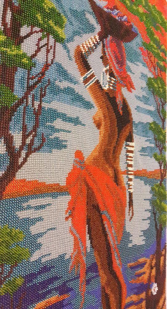 африканка вышивка бисером, картина бисером африканка