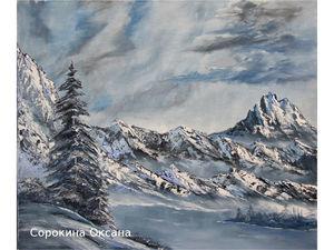 Картина маслом Лучше гор могут быть только горы. Ярмарка Мастеров - ручная работа, handmade.