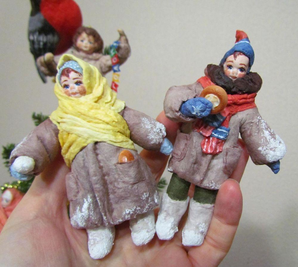 ватная елочная игрушка