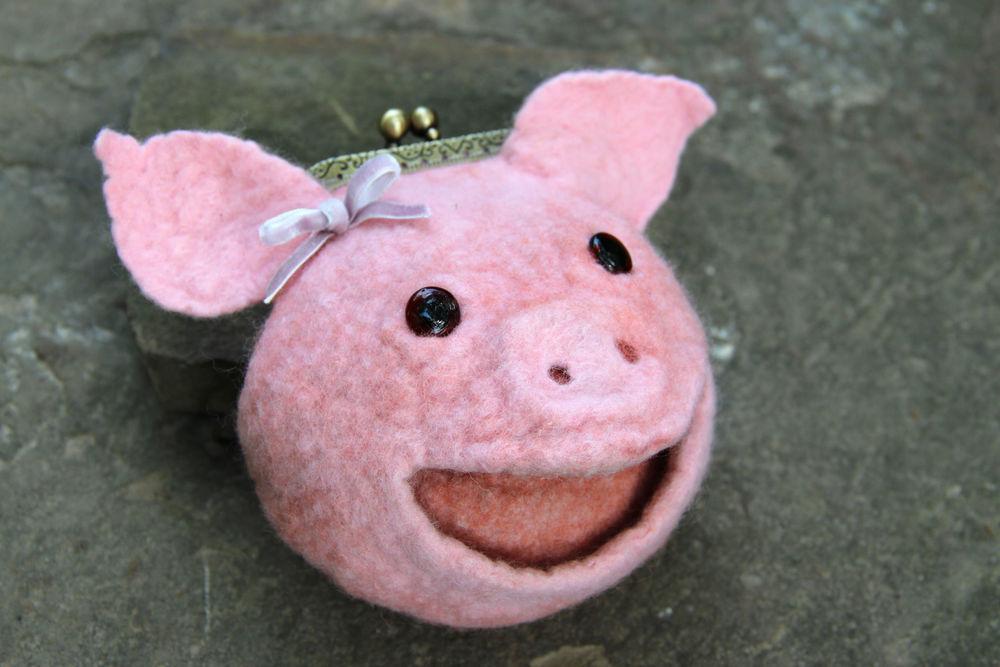 свинка, игрушка, шерсть, валяние, вебинар, новый год