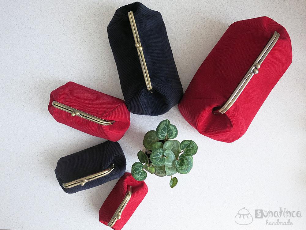 клатч с фермуаром, кошелек на заказ, красный