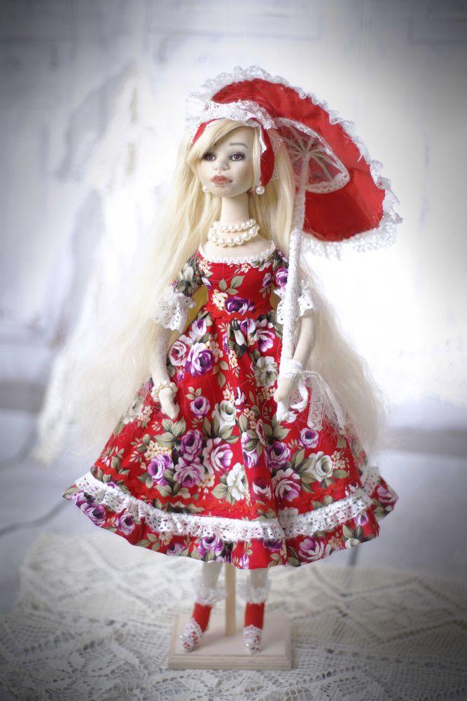 будуарная кукла, кукла на подставке