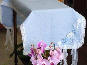 Дорожка льняная с декором.. Ярмарка Мастеров - ручная работа, handmade.