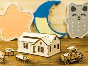 Кукольный домик и машинка в подарок всем!. Ярмарка Мастеров - ручная работа, handmade.