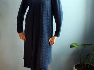 АУКЦИОН на вязаный комплект платье и жилет! СТАРТ 3000руб. Ярмарка Мастеров - ручная работа, handmade.