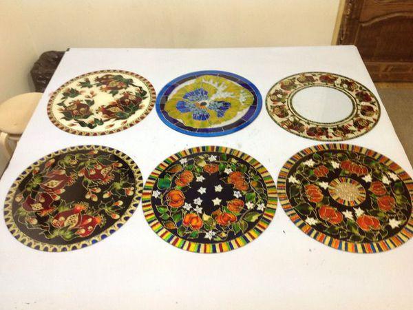 МК по росписи стеклянного стола - первый день | Ярмарка Мастеров - ручная работа, handmade