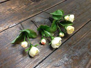 Новинка нашей студии - керамическая флористика (цветы из холодного фарфора) -Веточка яблони!   Ярмарка Мастеров - ручная работа, handmade