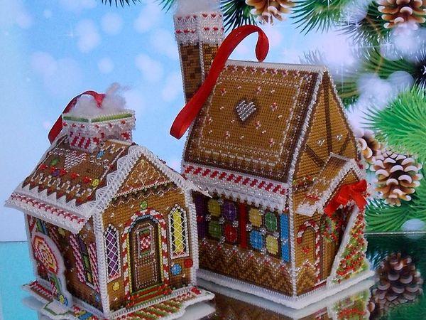 Вышитые Новогодние игрушки. Часть 1. | Ярмарка Мастеров - ручная работа, handmade