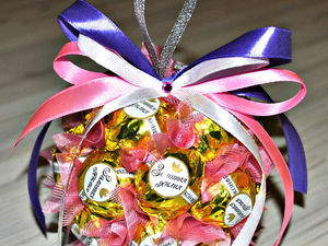Делаем сами ёлочный шар из конфет. Ярмарка Мастеров - ручная работа, handmade.
