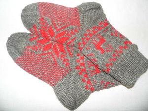 Носки вязаные из шерсти. Ярмарка Мастеров - ручная работа, handmade.