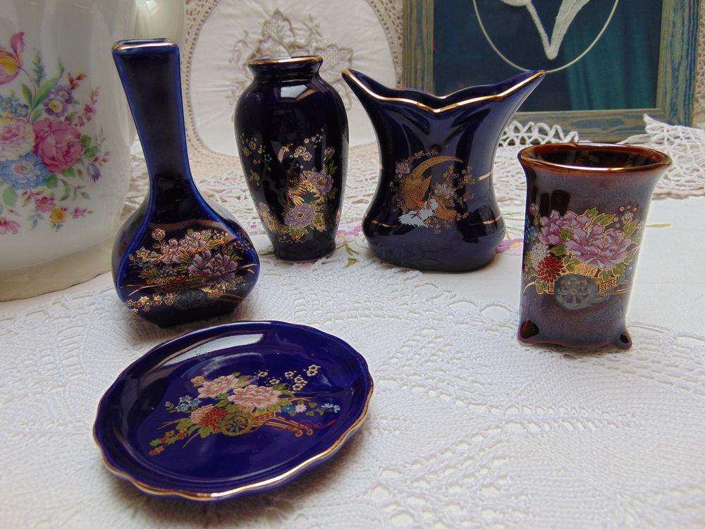 райская птица, шкатулка кобальтовая, вазы из кобальта