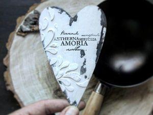 Изготавливаем сердечки-подвески ко Дню святого Валентина: видеоурок. Ярмарка Мастеров - ручная работа, handmade.