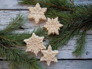 Снежинка новогоднее мыло с нуля: красота и забота. Ярмарка Мастеров - ручная работа, handmade.