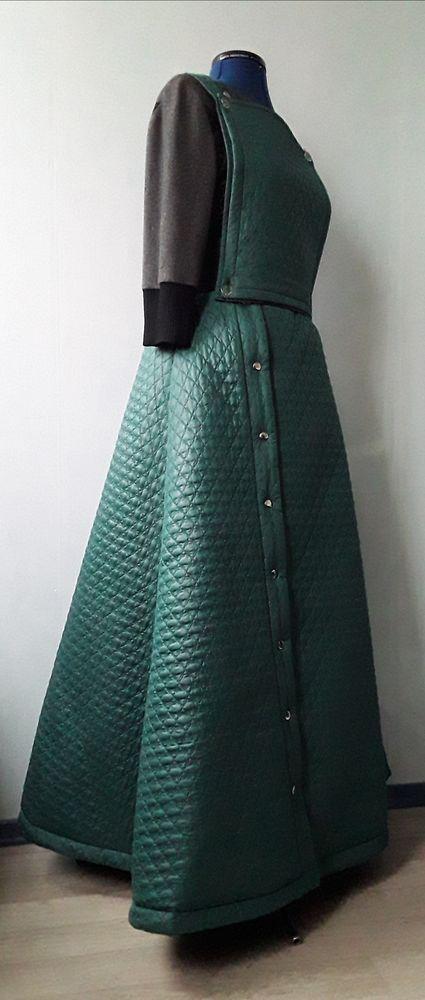 необычная юбка, черно-зеленая юбка, юбка на резинке