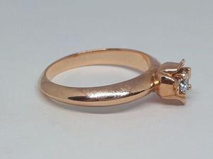 Нежнейшее женственное кольцо Тюльпан — натуральный бриллиант в золоте 585 пробы. Ярмарка Мастеров - ручная работа, handmade.