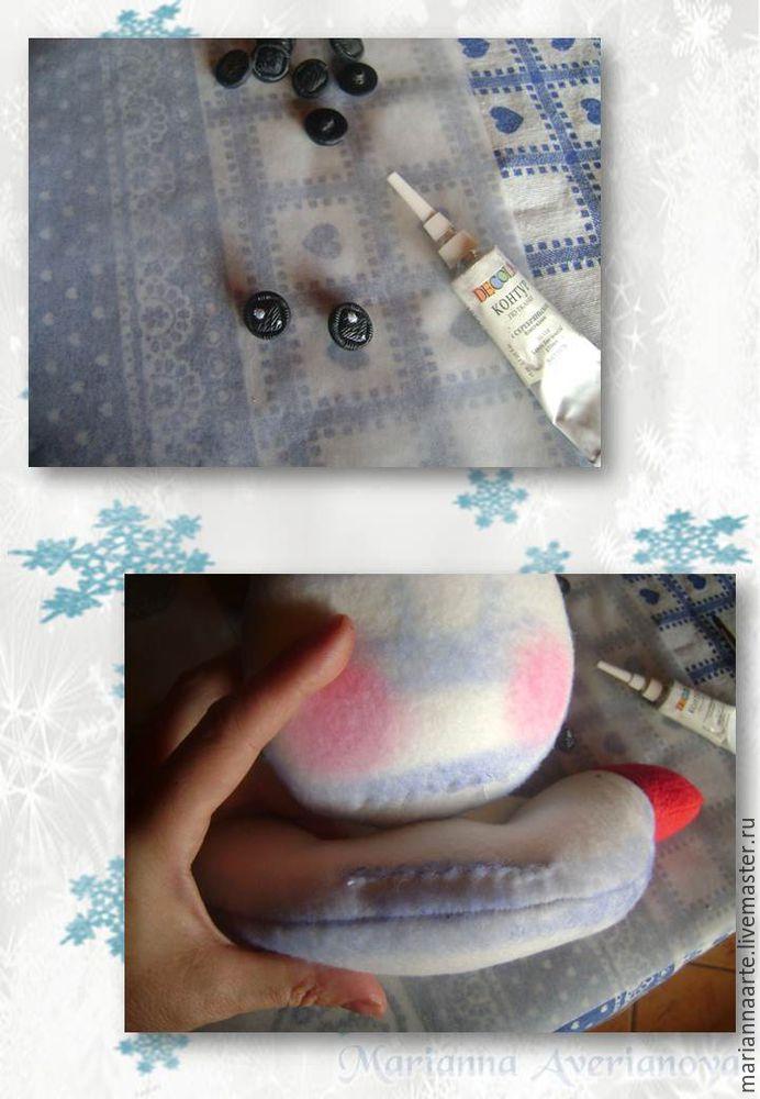 Мастер-класс по созданию забавной новогодней игрушки «Снеговичок-тюфячок», фото № 19