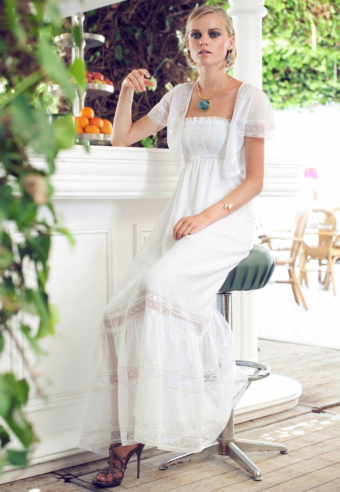 Белое бохо, или Шикарная одежда для королевы летнего пляжа, фото № 17