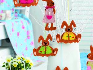 Декор для детской своими руками: делаем зайчиков из фетра. Ярмарка Мастеров - ручная работа, handmade.