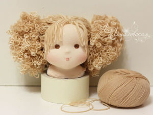 Кудряшки для вальдорфской девочки: мастер-класс. Ярмарка Мастеров - ручная работа, handmade.
