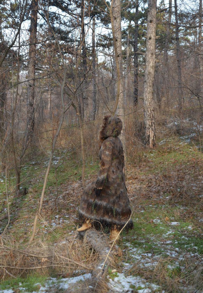 пальто с флисом