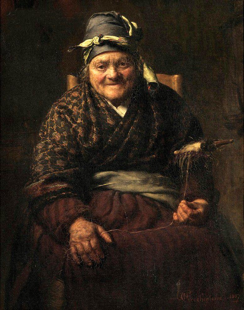 Когда есть чем заняться — стареть некогда: душевные картины о бабушках-рукодельницах, фото № 18