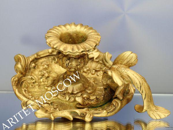 РАРИТЕТИЩЕ Подсвечник дракон бронза Франция 19век 41 | Ярмарка Мастеров - ручная работа, handmade