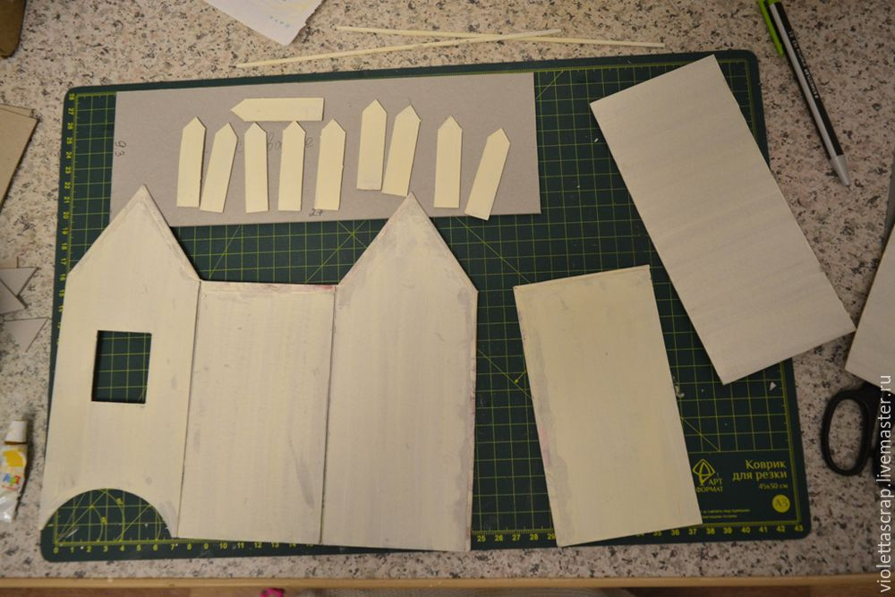 Мастер-класс: изготавливаем дуэт из чайных домиков с конфетницей, фото № 7
