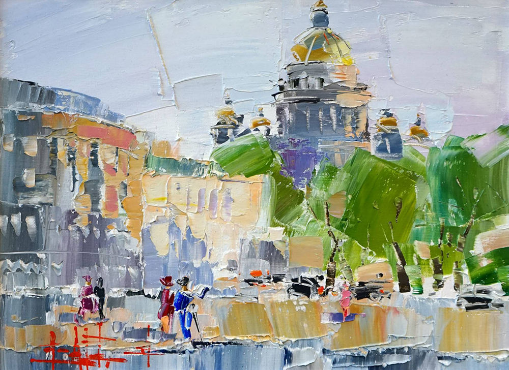 Konstantin Sukhopluev: Artist Painting Rain, фото № 29
