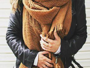 Теплые идеи: использование шарфов и шарфиков в осеннем гардеробе 2016 года. Ярмарка Мастеров - ручная работа, handmade.