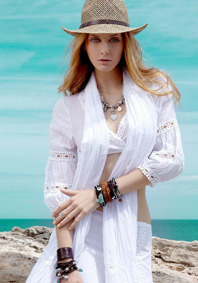 Белое бохо, или Шикарная одежда для королевы летнего пляжа, фото № 1