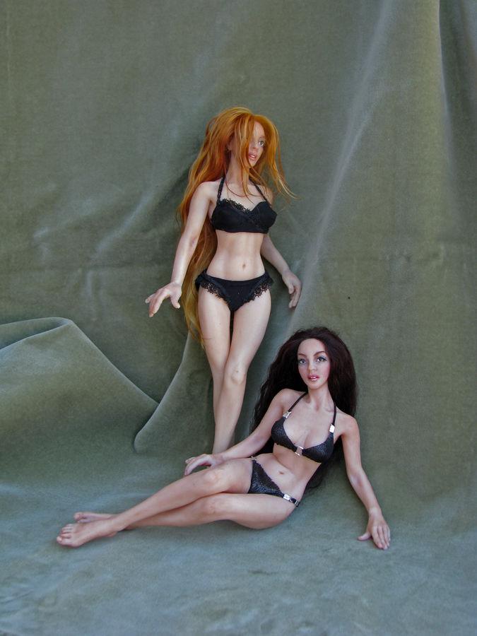форма из силикона, силиконовая кукла