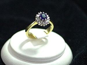 Кольцо принцессы Дианы — натуральный сапфир и бриллианты. Ярмарка Мастеров - ручная работа, handmade.