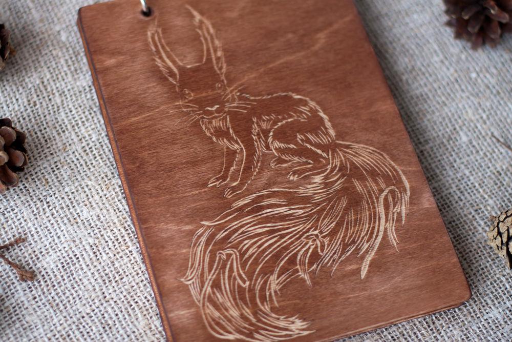 деревянный блокнот, персональный подарок, блокнот на кольцах